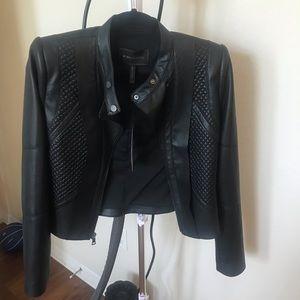 BCBG leather jacket.